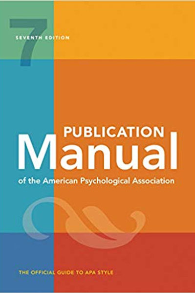 Publication Manual of the American Psychological Association, 7th ED (Paperback)