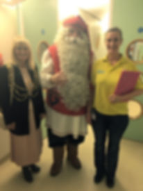 FatherChristmas and Cllr Dee Simpson May