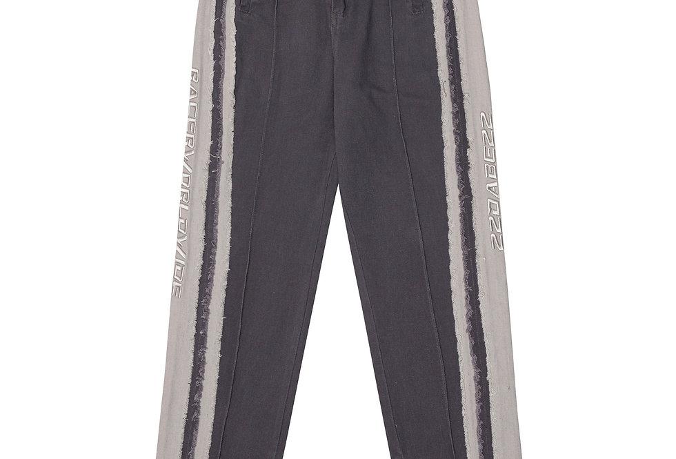 22DABE22 x RacerWorldwide® Black Distressed Pants