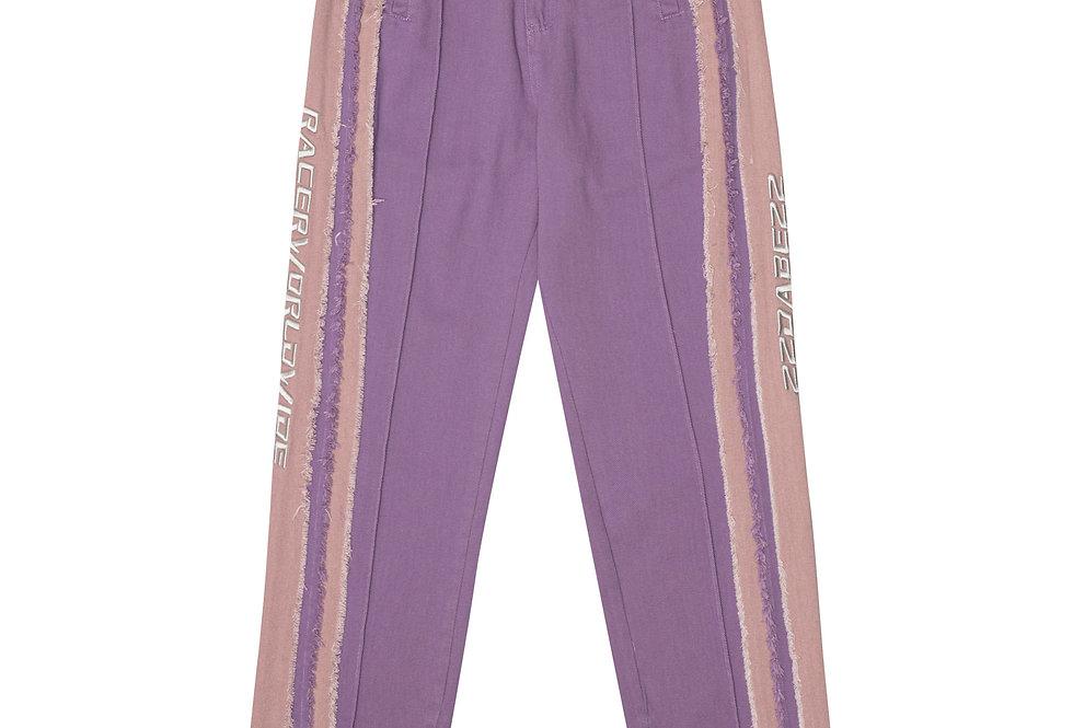 22DABE22 x RacerWorldwide® Purple Distressed Pants