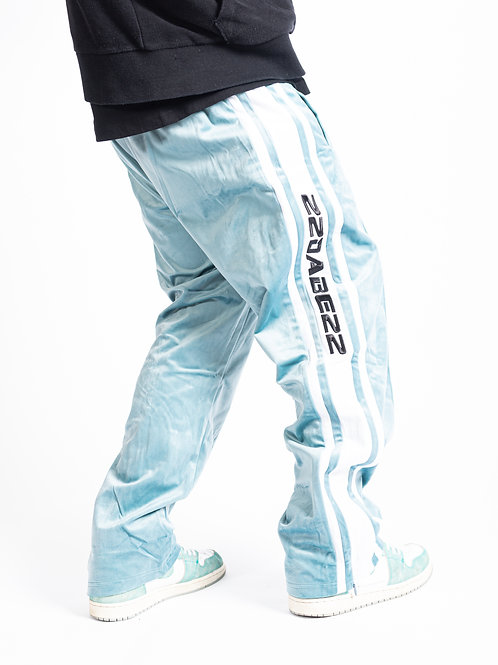 TRACKPANT TURQUOISE/WHITE