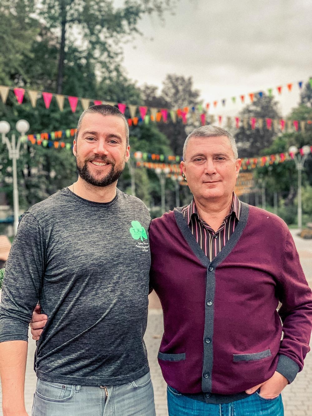 Chipp and Jenna's dad in Zaporizhzhia