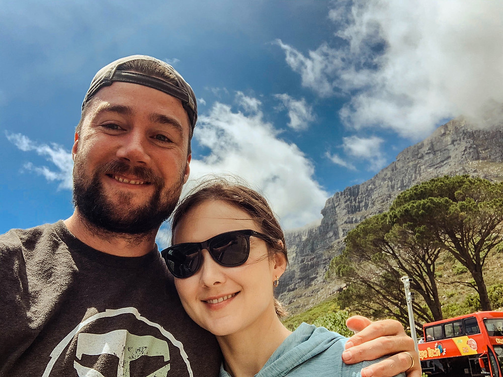 At the beginning of our Table Mountain climb