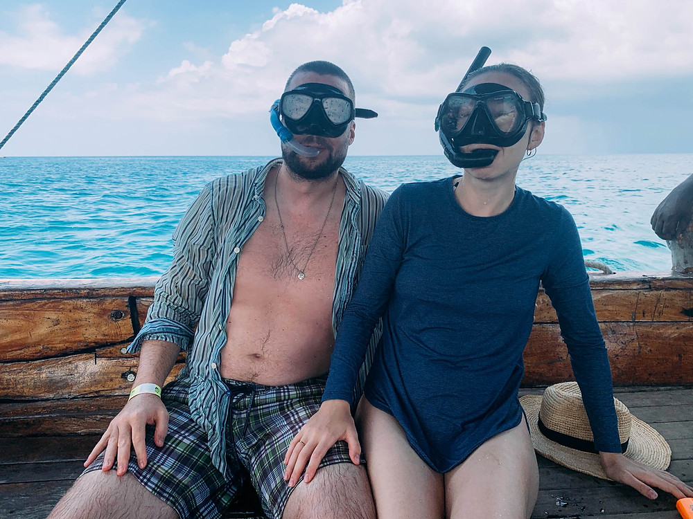 First rule of snorkeling? Look cool... Failed