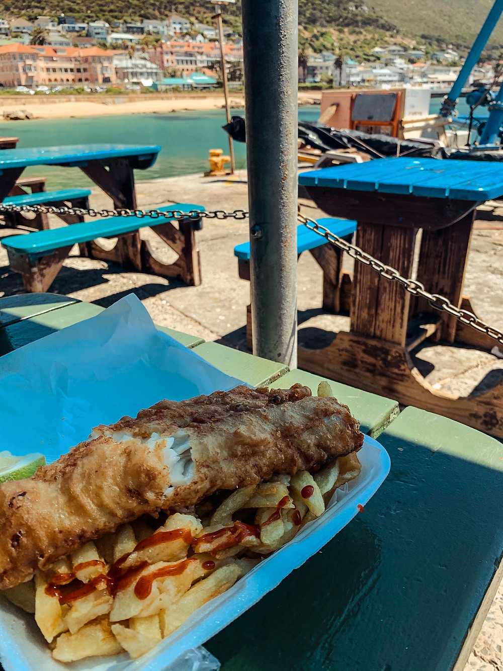 Kalky's famous - and enormous! - fish and chips
