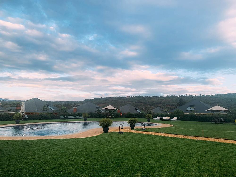 Enjoying a dip at the Marera Valley Lodge