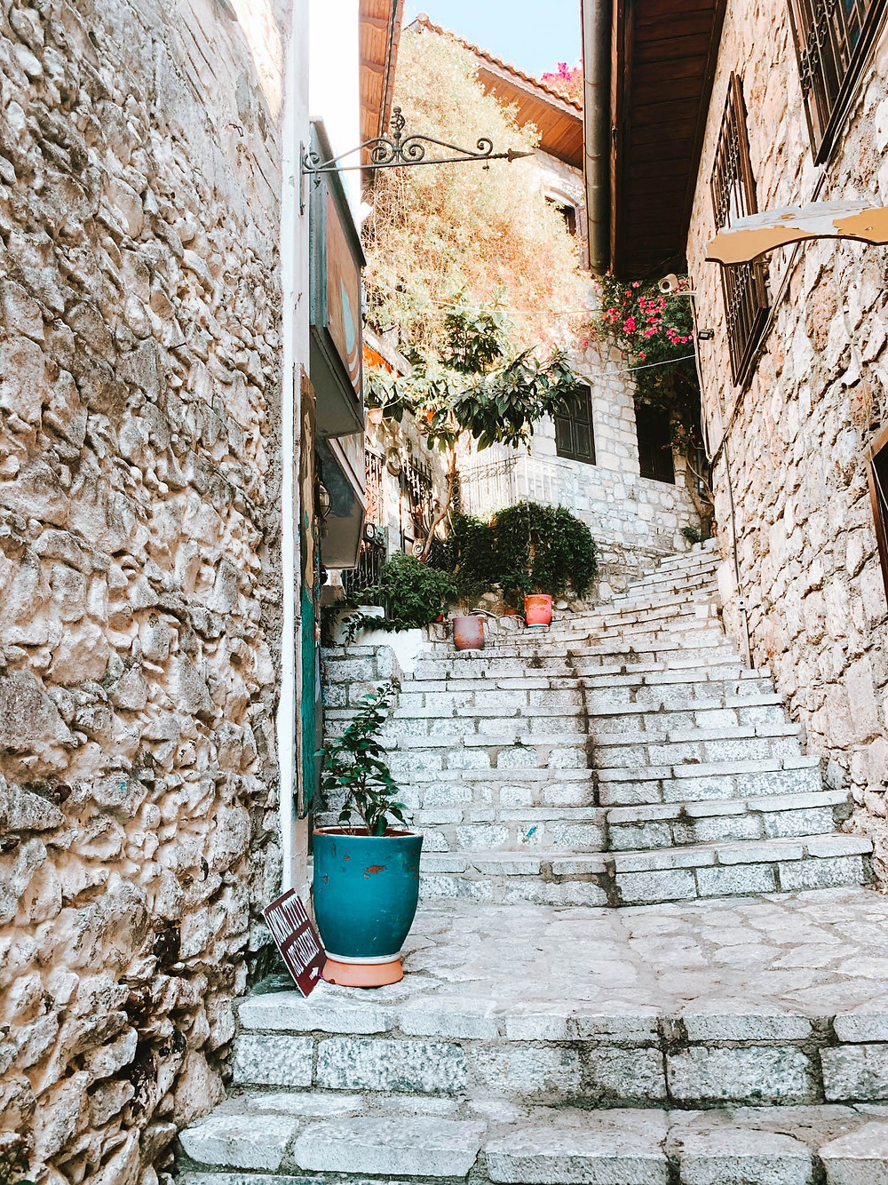 A stairway leading into old town Marmaris