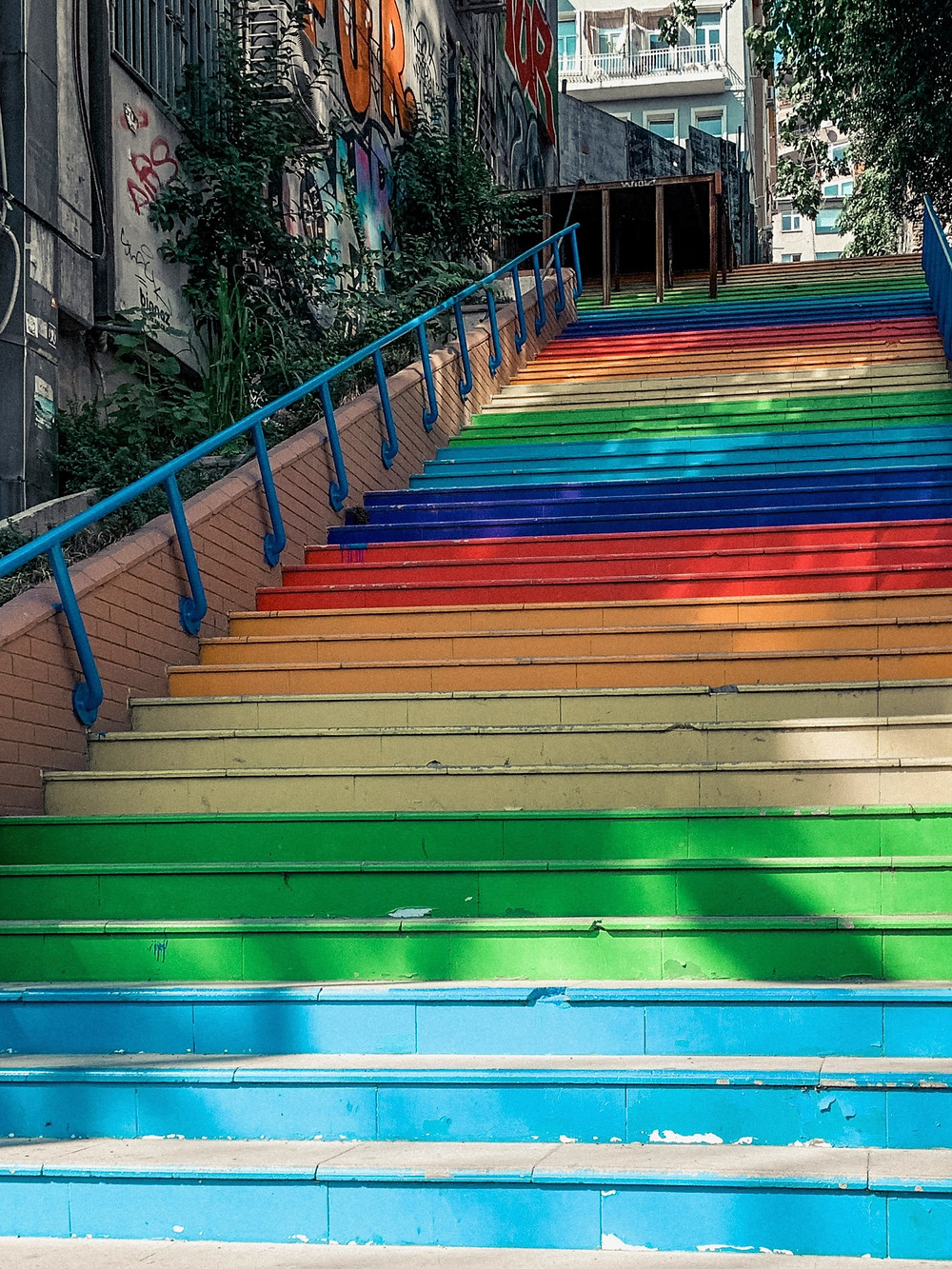 Rainbow stairs of Beyoglu, Istanbul