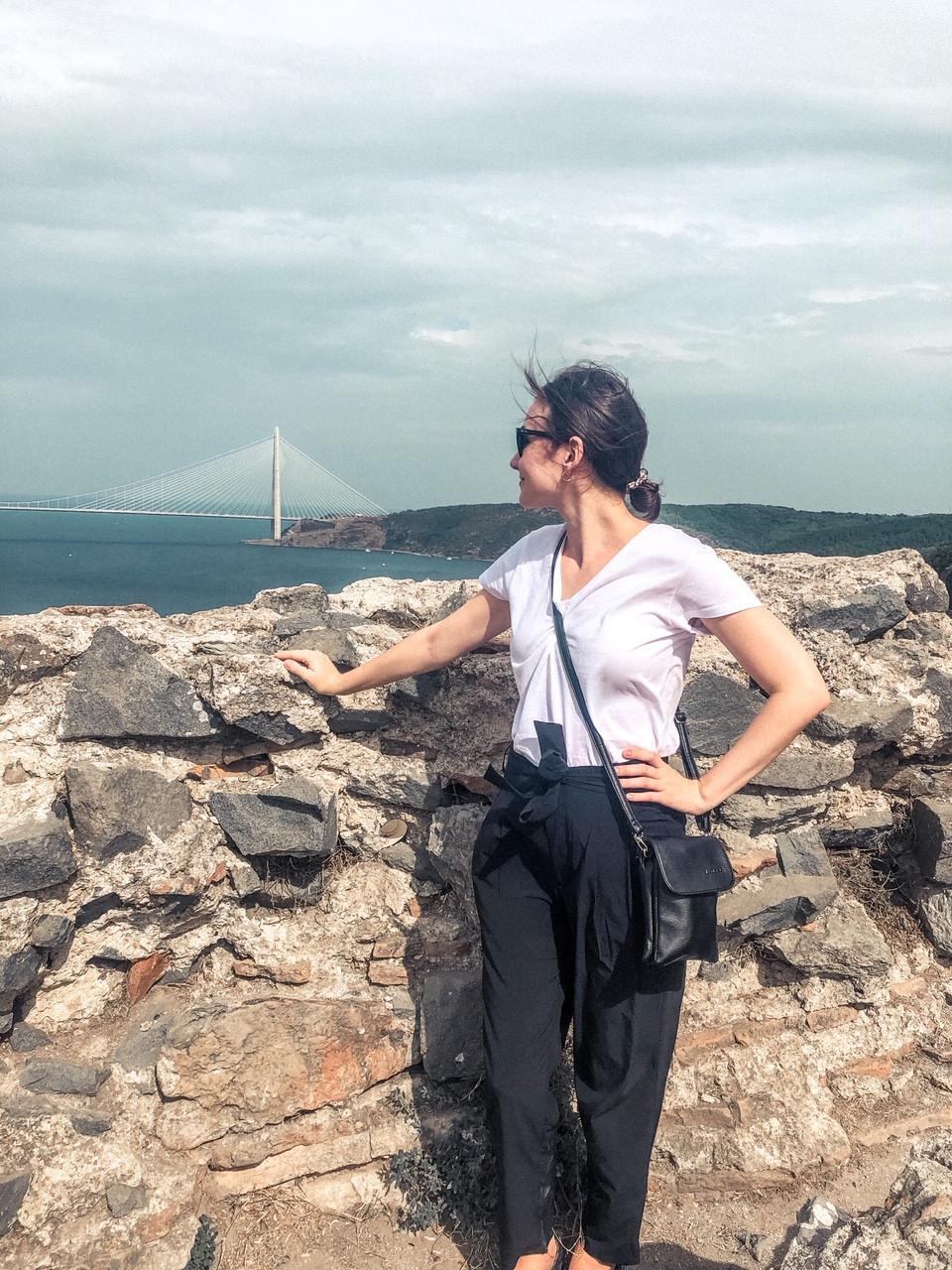 Jenna overlooking the Bosphorus and Black Sea