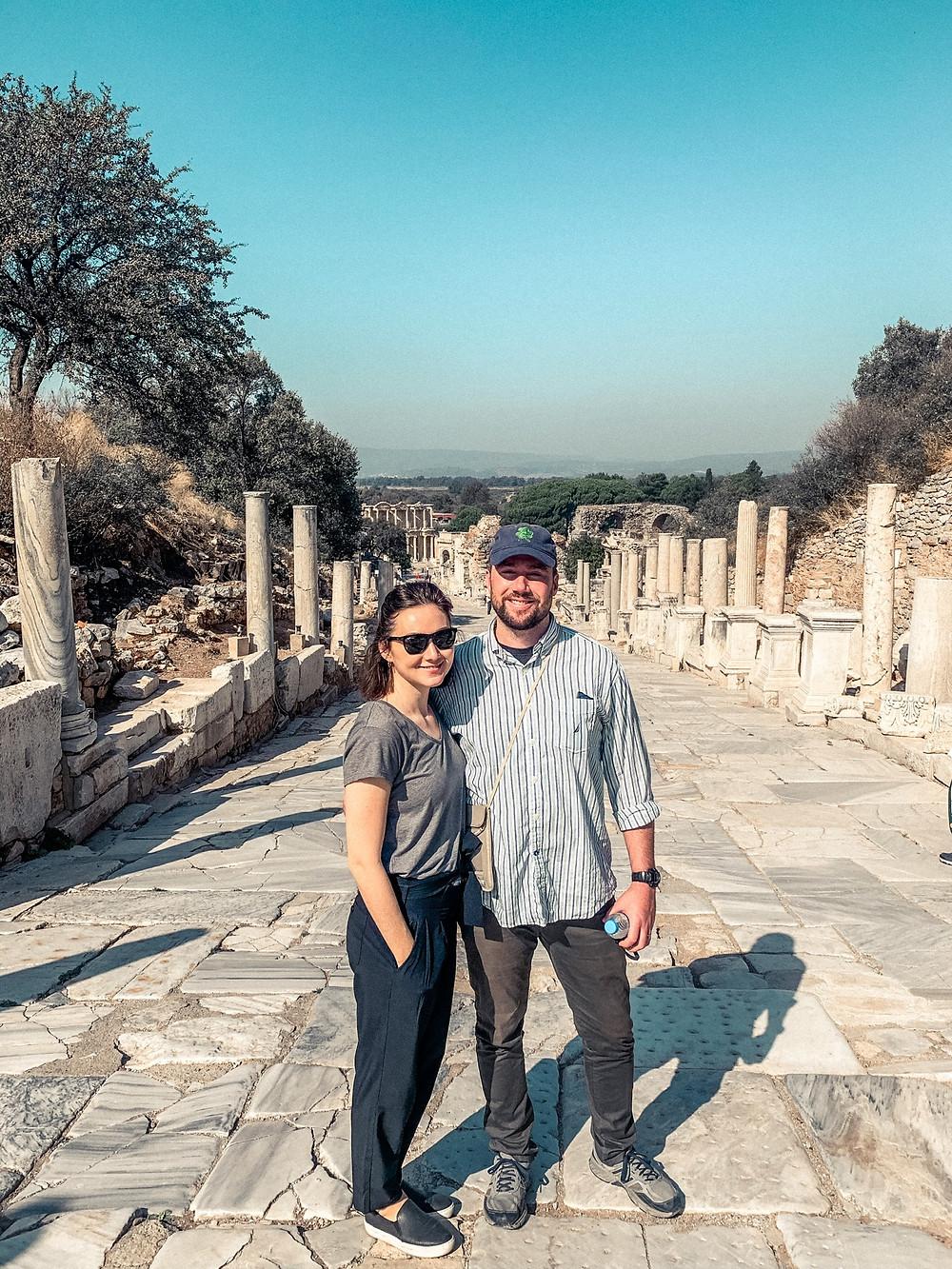 Looking down the main boulevard of ancient Ephesus