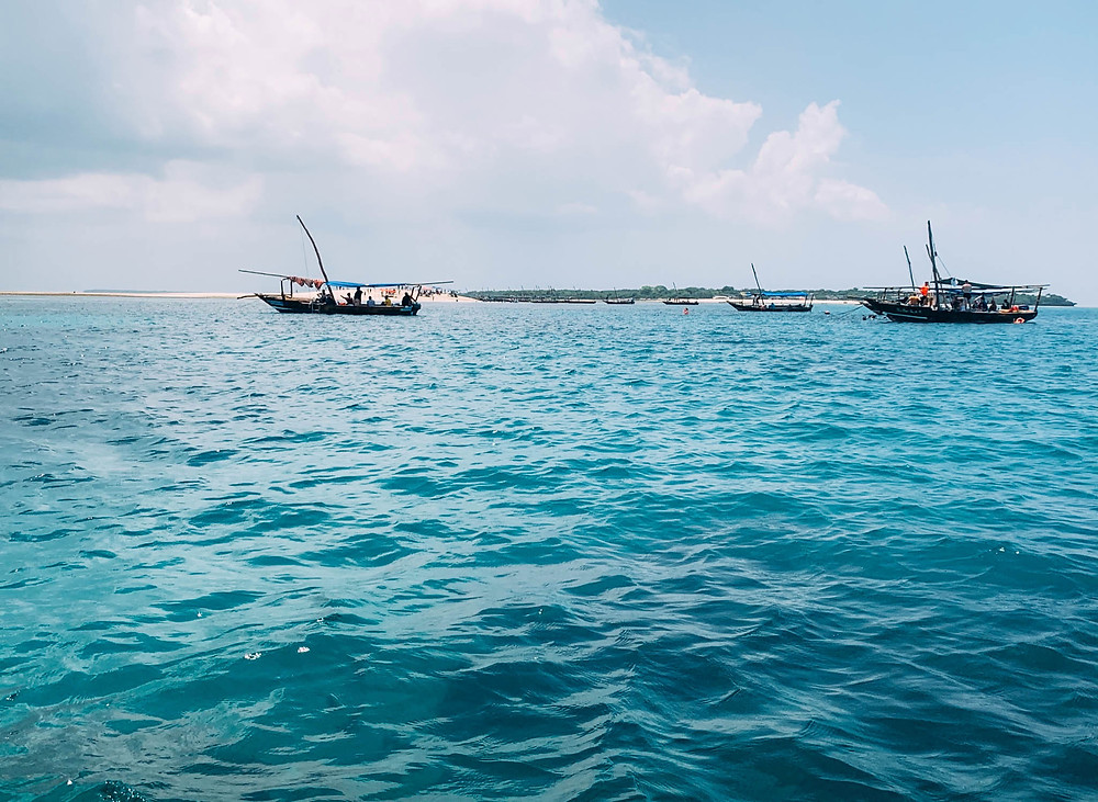 One of the several awesome snorkeling spots we visited off the coast of Zanzibar