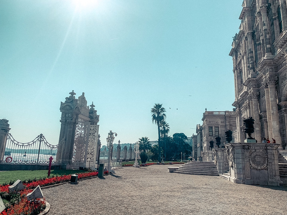 Dolmabahce Palace and the banks of the Bosphorus