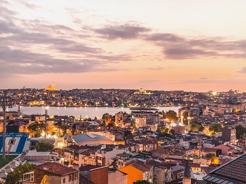 An Istanbul nightscape