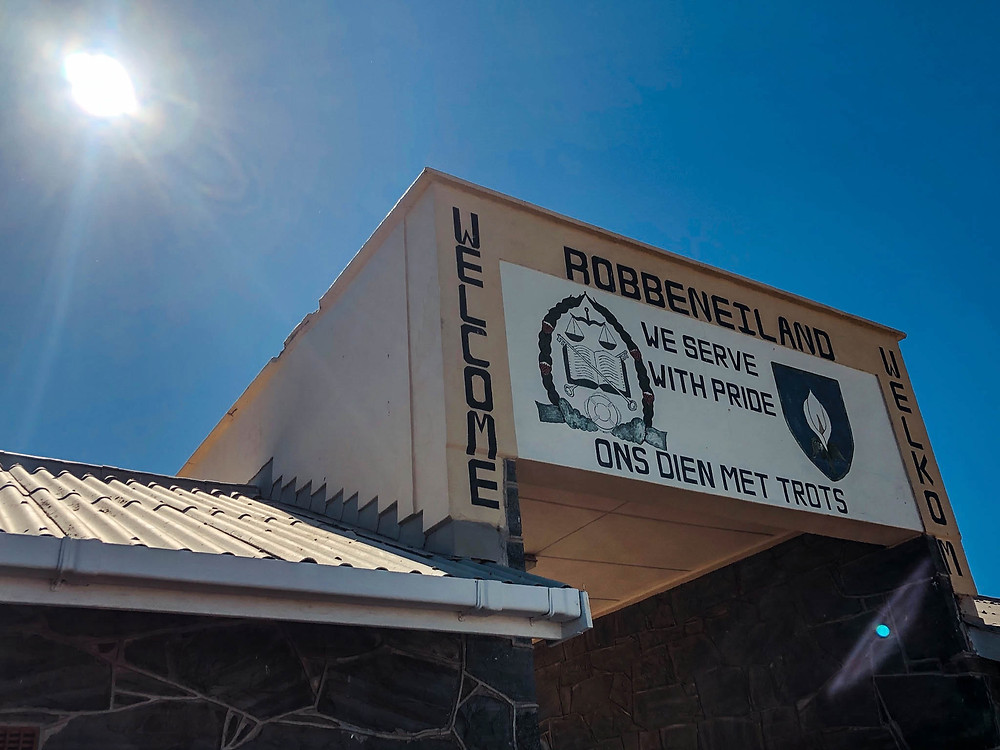 Robben Island's (guard) motto - in English and Afrikaans