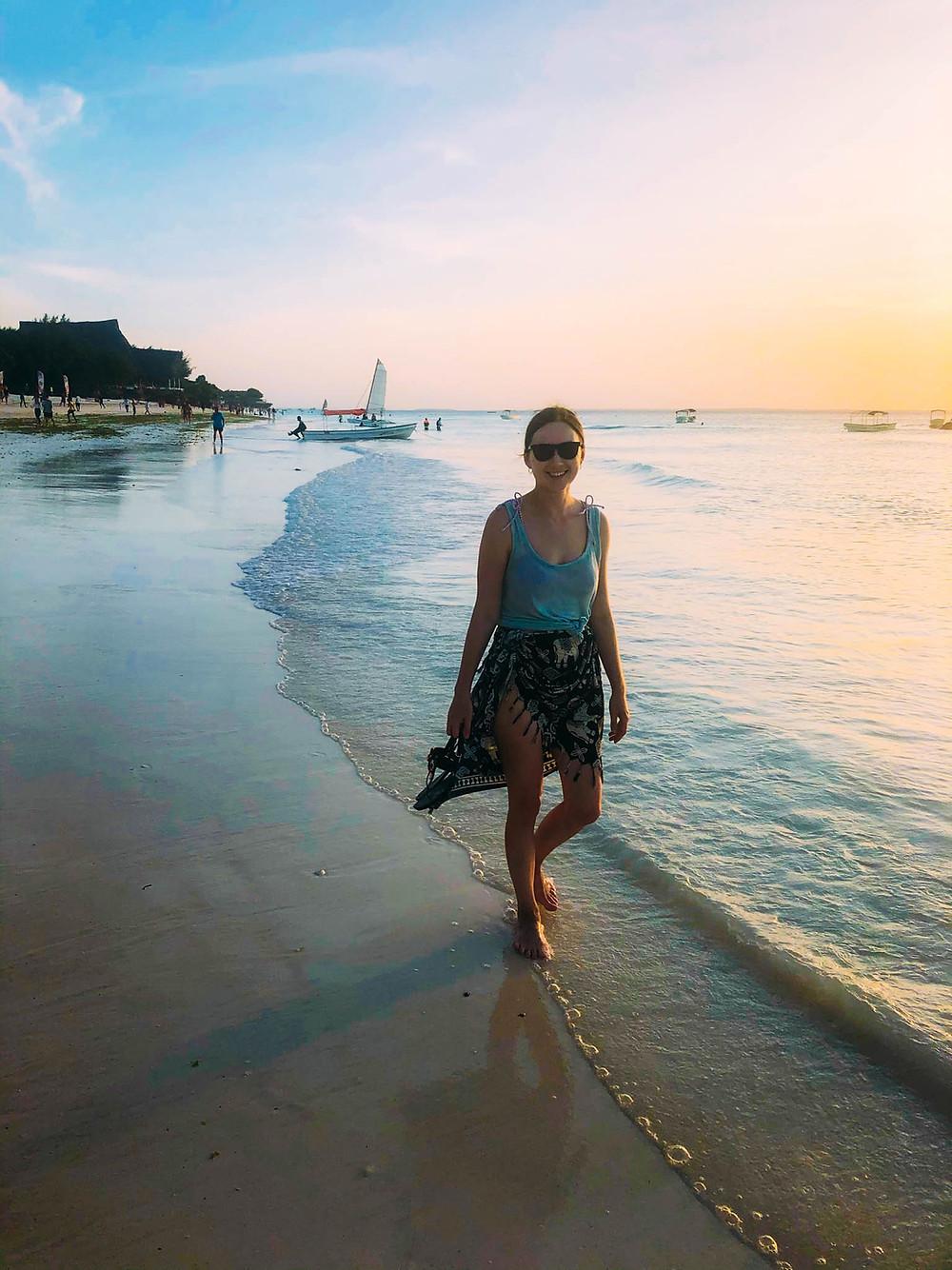 Evening strolls along Nungwi's beaches
