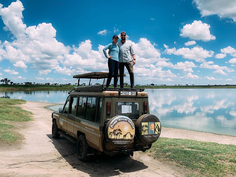 """Our Landcruiser safari """"home"""" - top up!"""