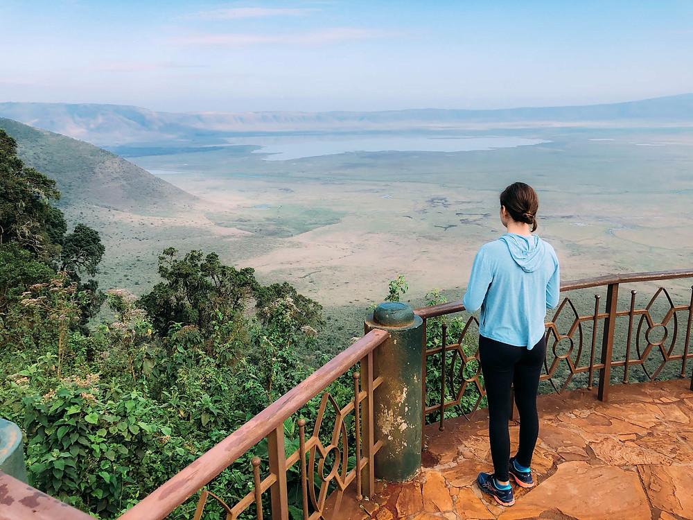 Overlooking Ngorongoro Crater