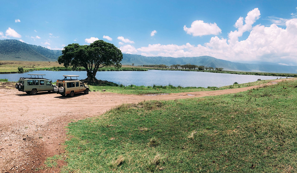 A picnic spot in Ngorongoro - quite the place for a bite to eat!