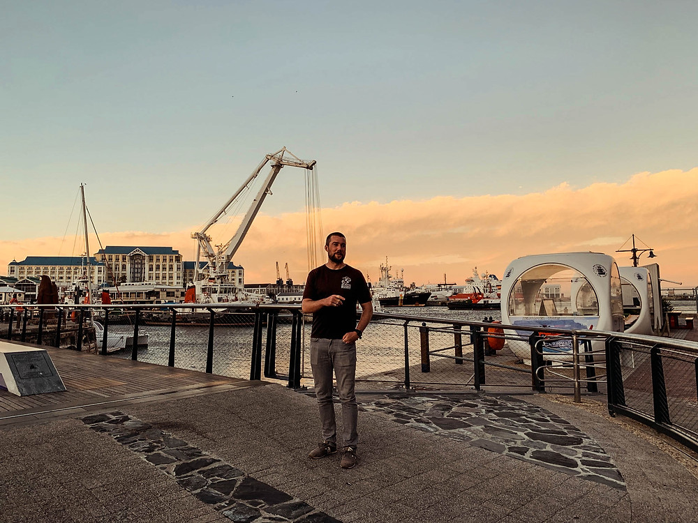 """""""Action shot"""" in the V&A Waterfront"""