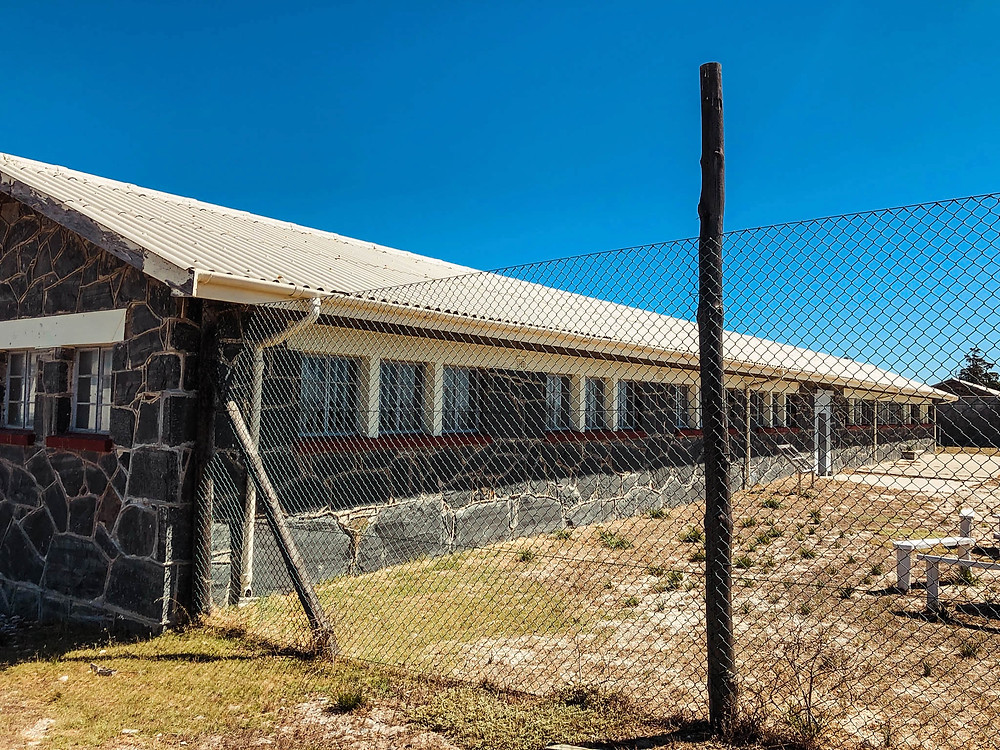 Part of the actual prison on Robben Island