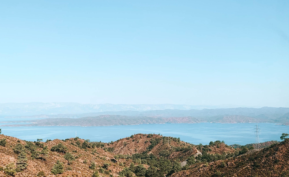Beautiful view of the Aegean Sea - cliff drop-off not visible...