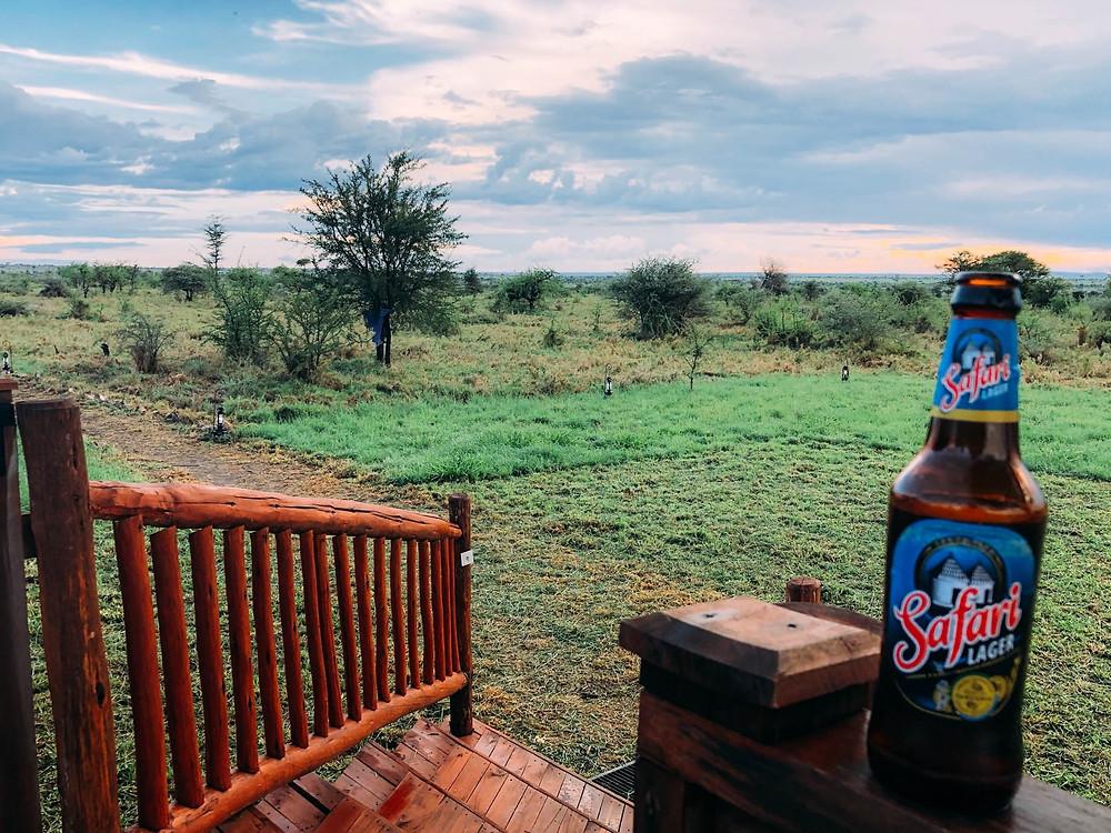 Safari beer - liquid gold (Note: picture NOT taken in downtown Arusha...)