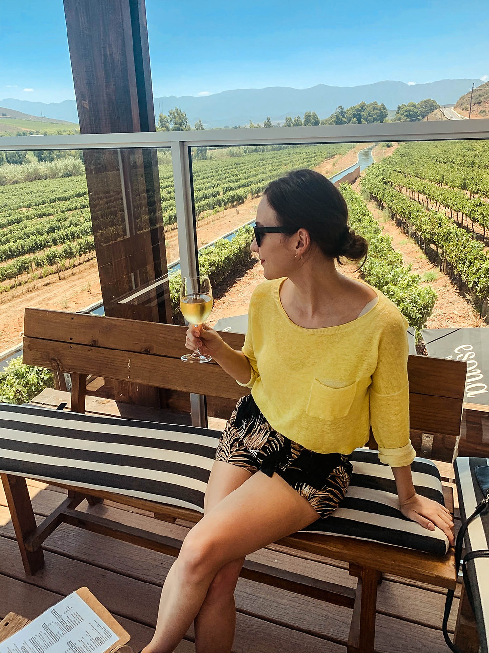 At Esona - one of several tastings along South Africa's Route 62