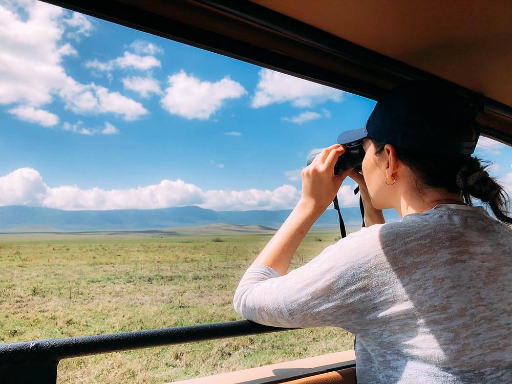 """A Jenna """"action shot"""" in Ngorongoro"""