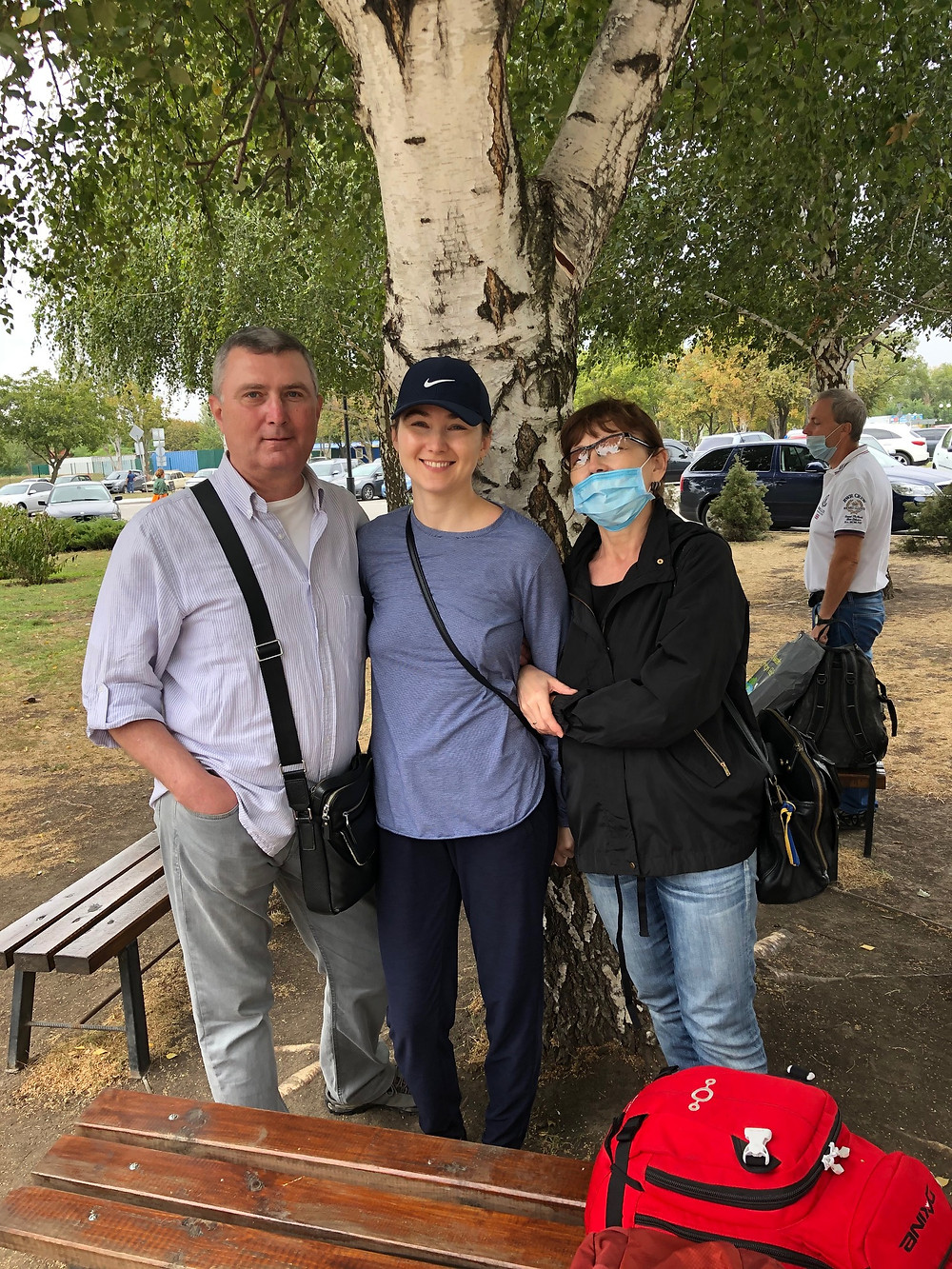 A family reunion at the Zaporizhzhia Airport