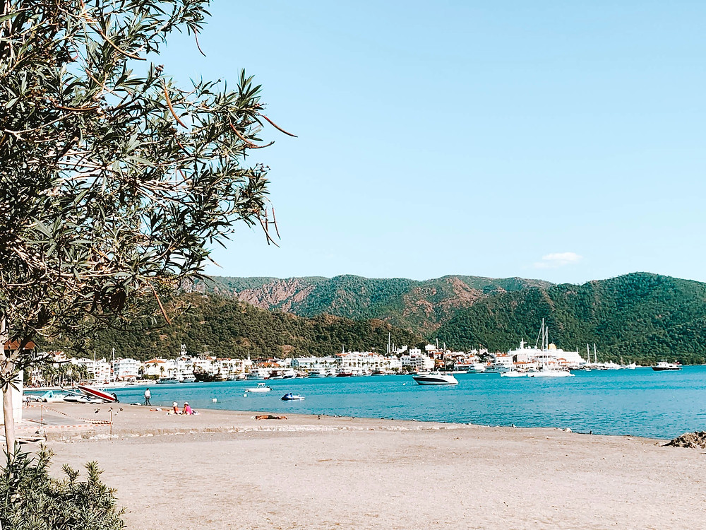 The sandy beaches of Marmaris