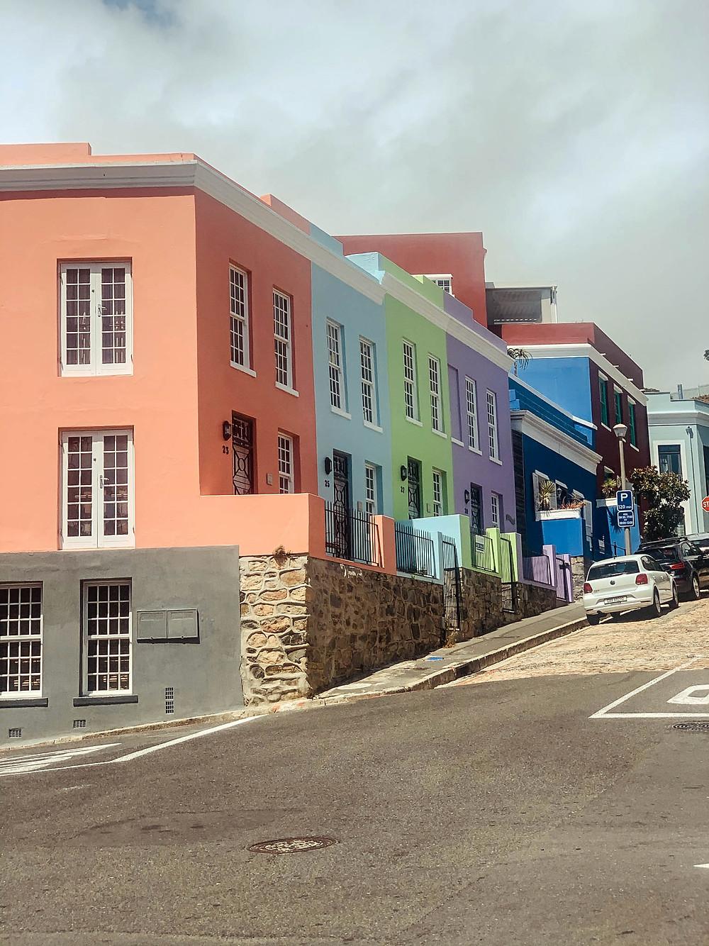 Beautifully restored row houses in Cape Town's De Waterkant neighborhood