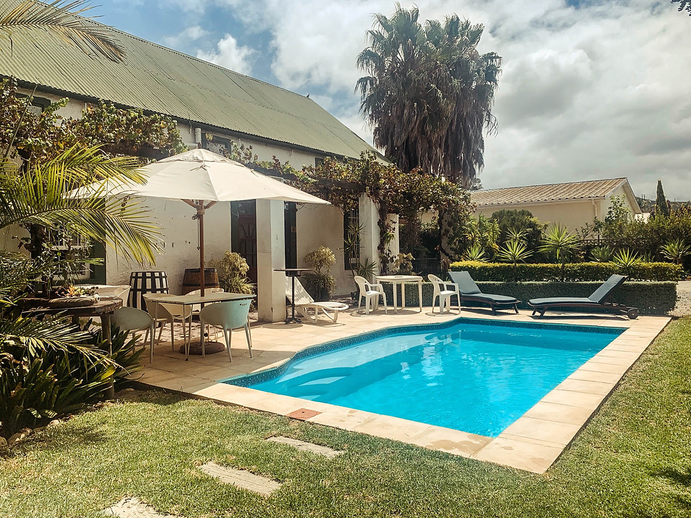 The Backpackers' pool - perfect place to cool off with a morning dip!