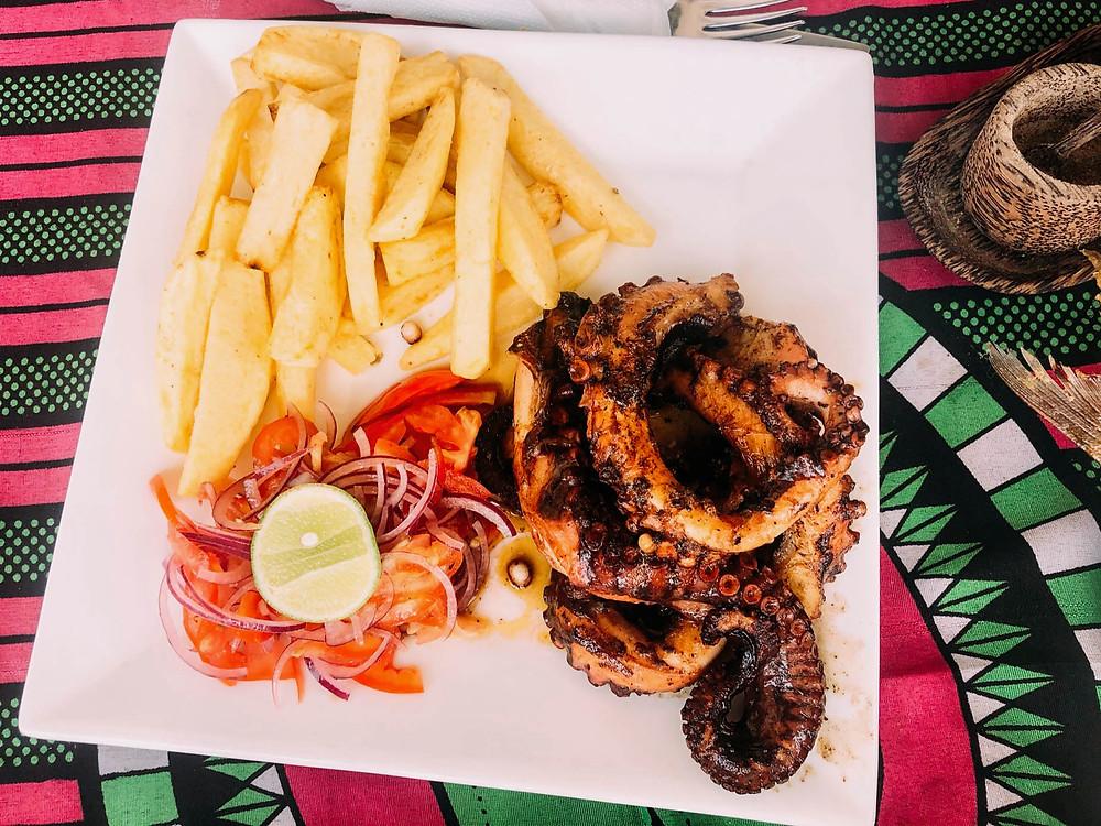 Chipp's favorite: octopus, Zanzibar-style