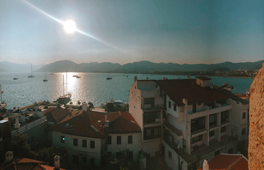 A final view out over the Marmaris waterfront