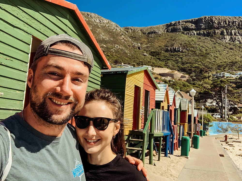 At the iconic St. James beach huts