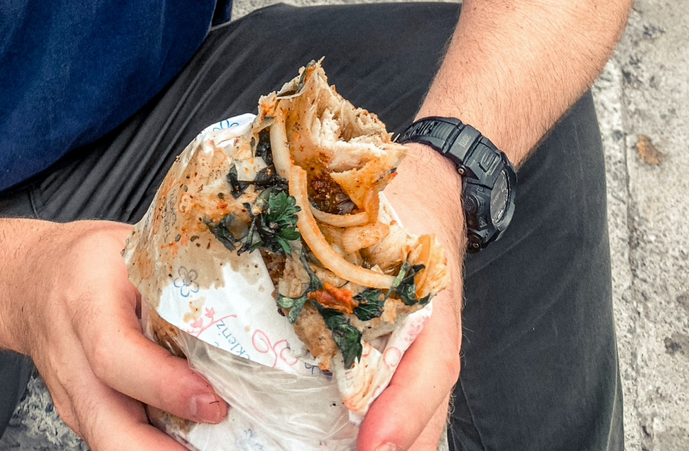 Fish wraps in Istanbul