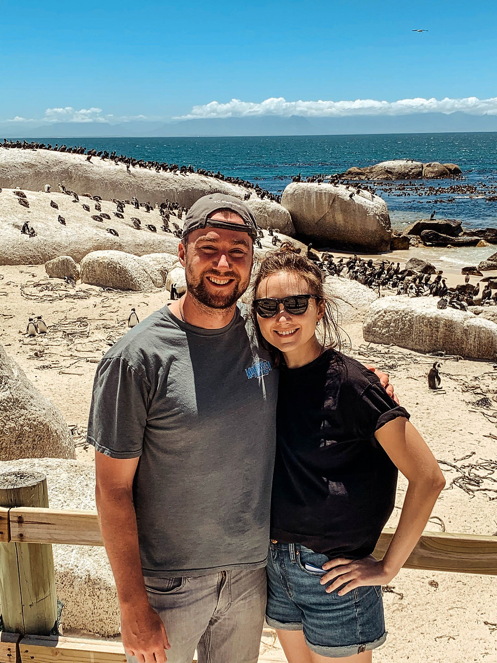 At Boulders Beach with what seemed like thousands of African Penguins