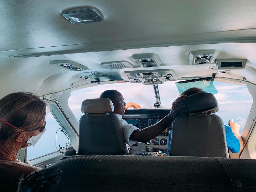 In-flight instruction...