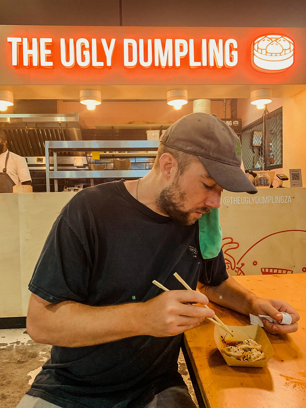Perfect ugly dumpling for an Ugly Dumpling pic - some of Cape Town's delicious food!