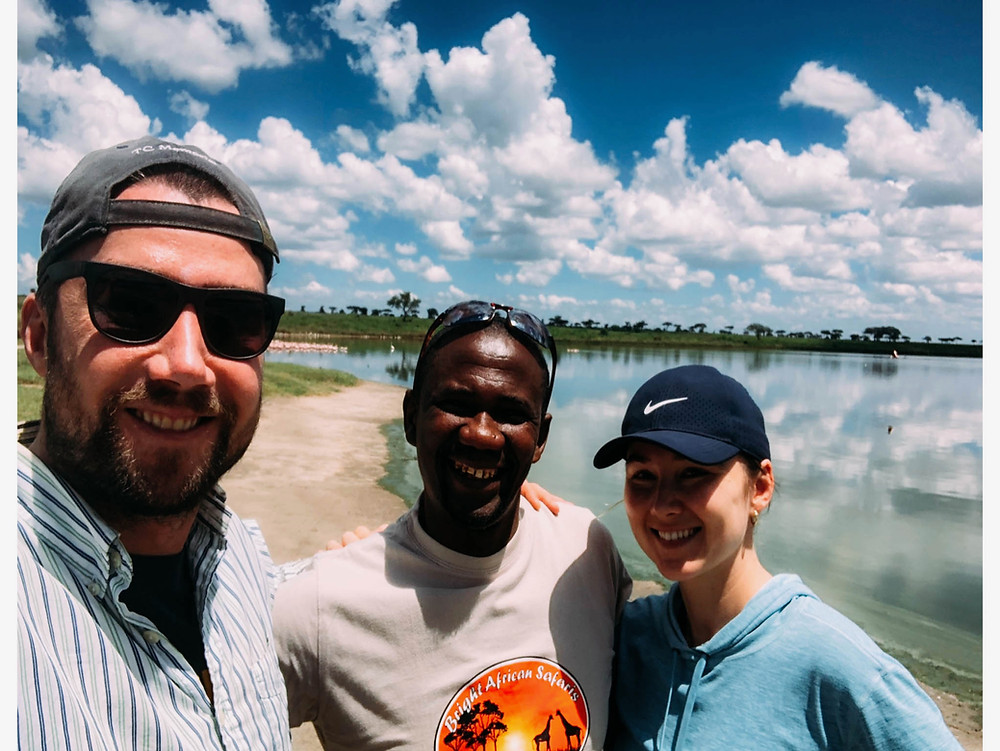 With Salim towards the end of our safari - best guide we could ask for!