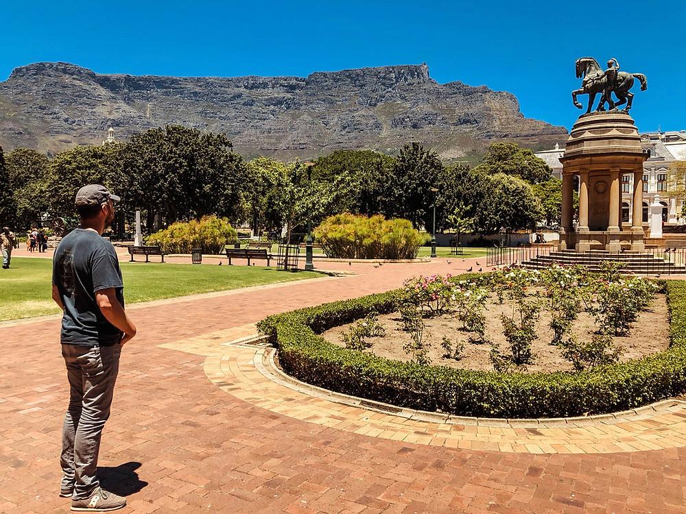 Enjoying our stroll through Cape Town's Company's Garden