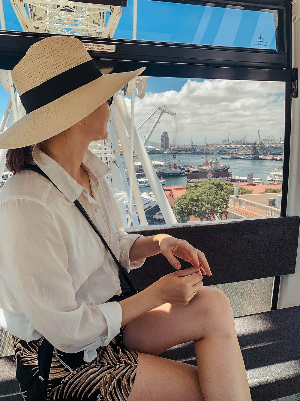 Riding the V&A Waterfront ferris wheel - another childhood throw-back