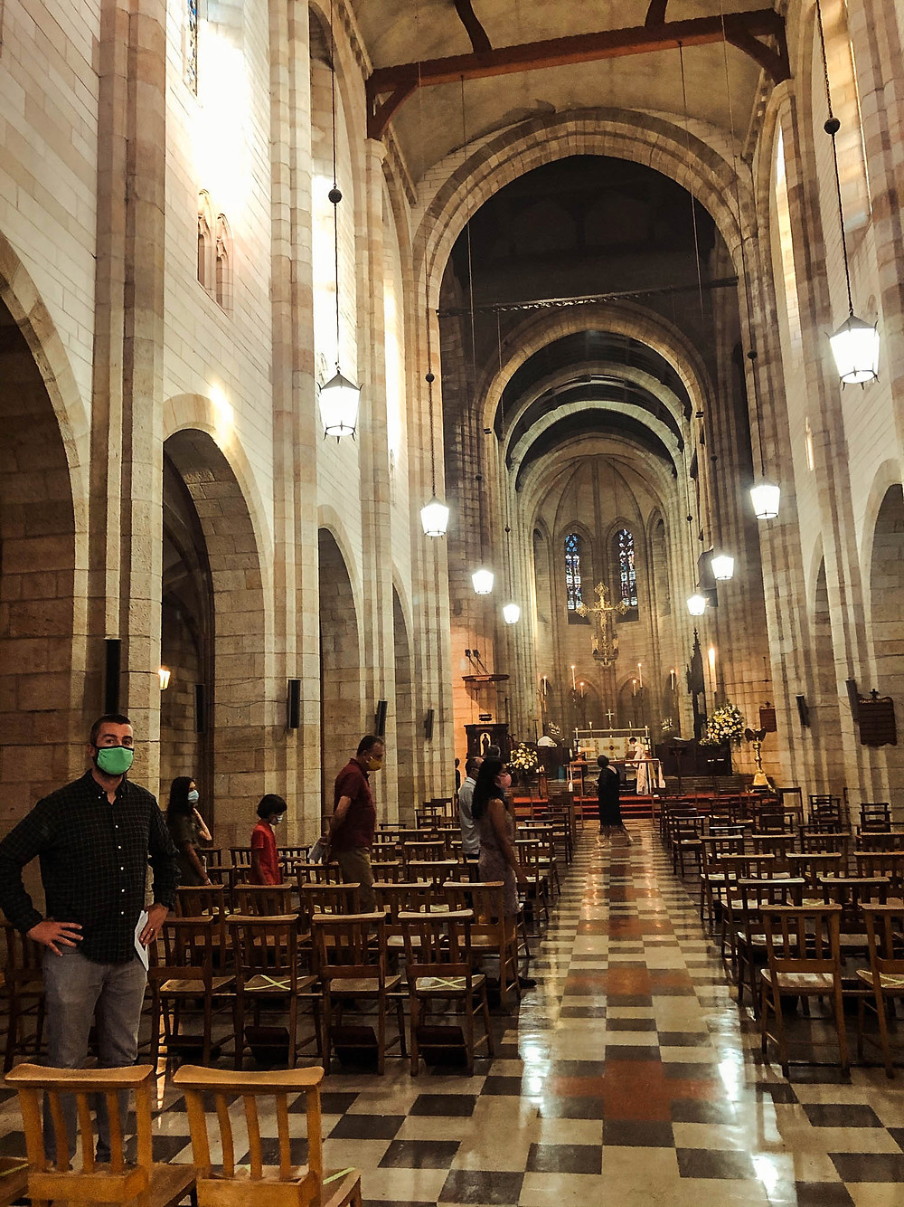A socially-distanced Christmas Eve mass in Cape Town