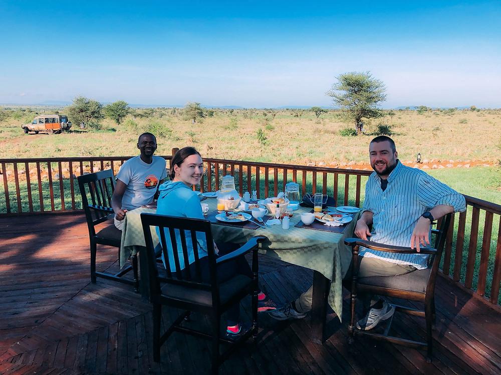 Breakfast with Salim overlooking the Serengeti