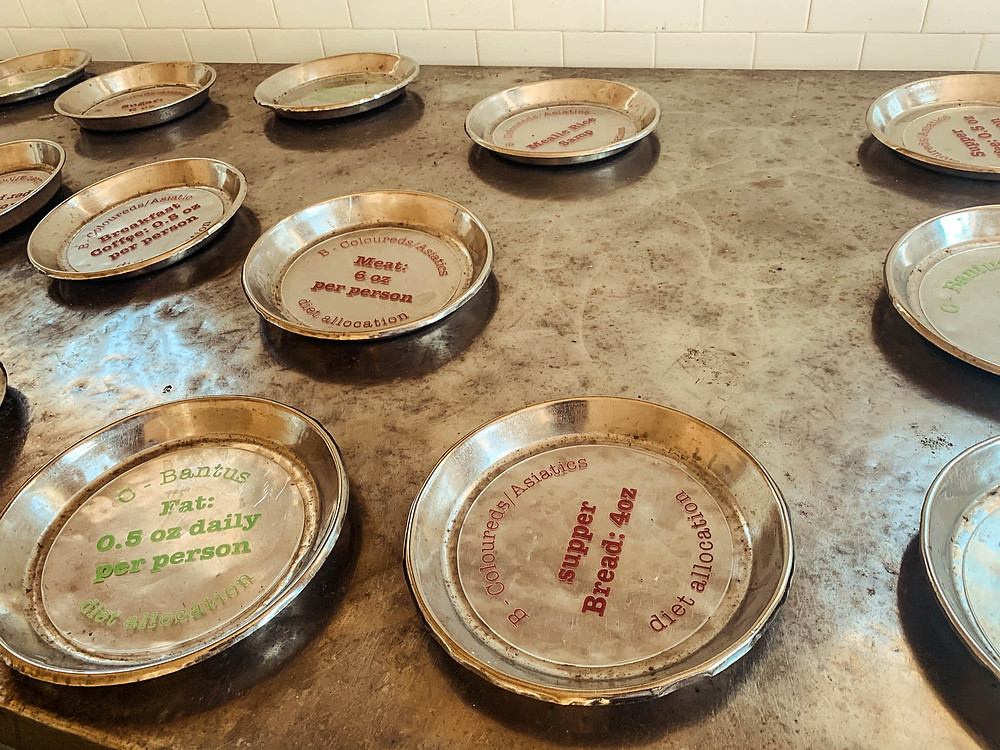 Tangible evidence of apartheid's evils - Robben Island prison food rations by race and ethnicity