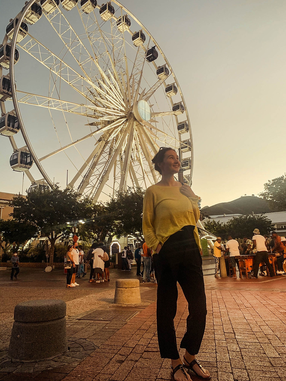 The V&A Waterfront's ferris wheel - great Cape Town views!