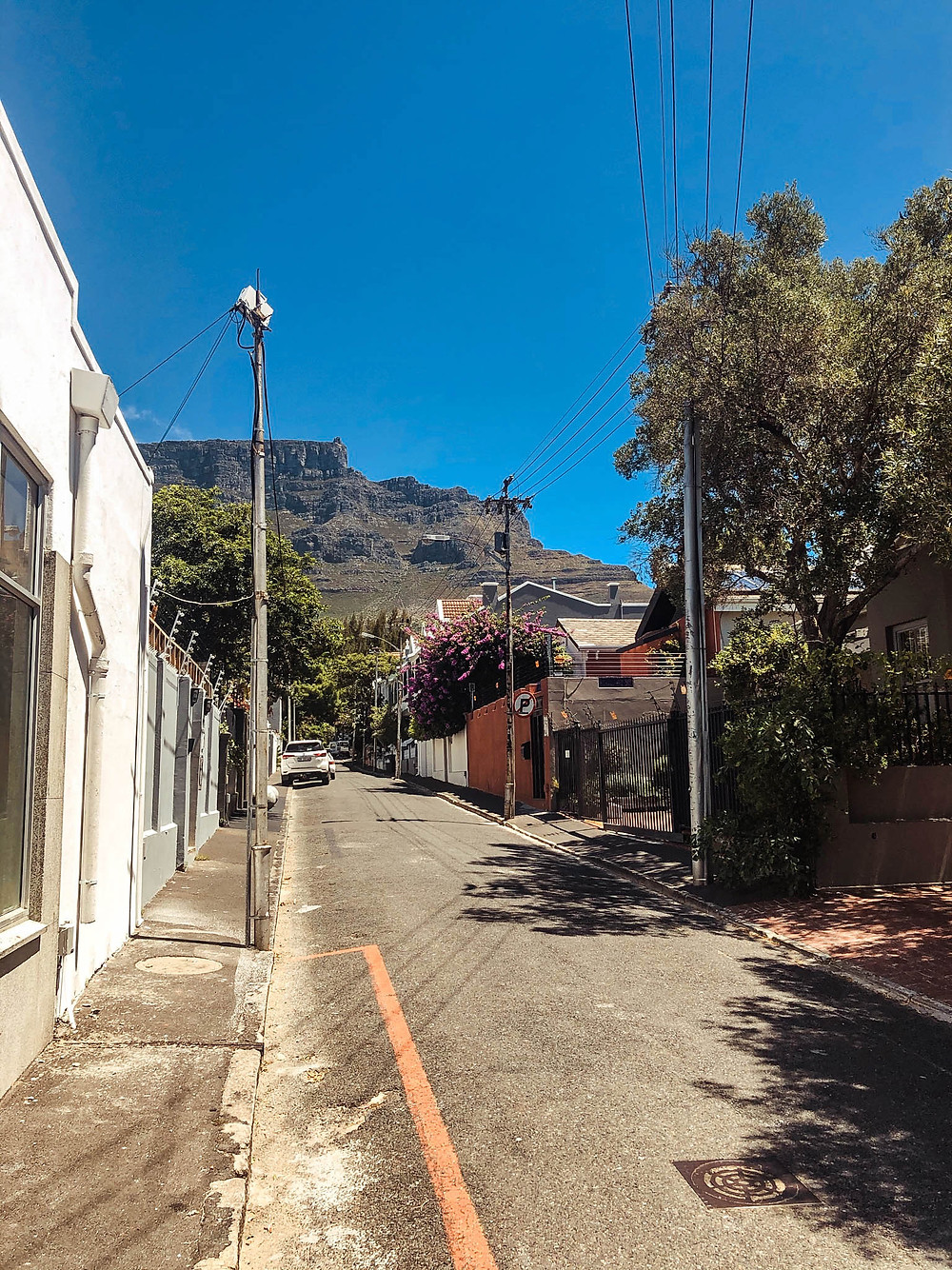 The Table Mountain view leaving Craft+Graft