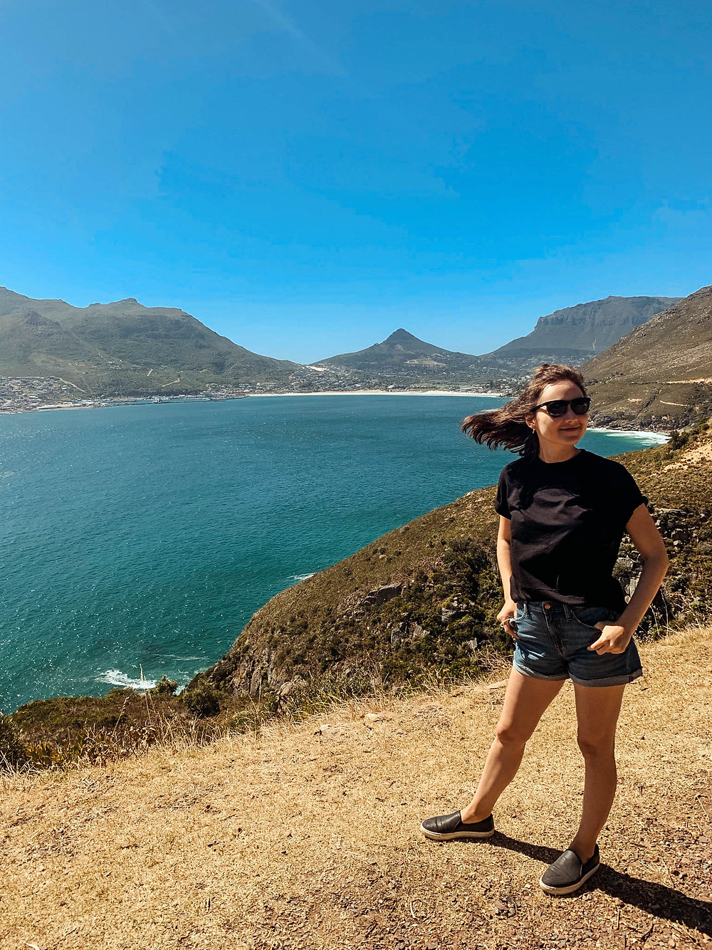 Jenna looking out from Chapman's Peak