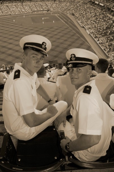 "Some of Chipp's ""really hard"" Navy training"