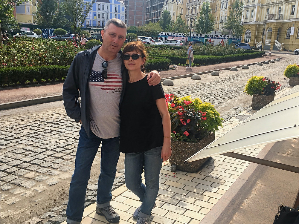 Jenna's mom and dad in Ukraine